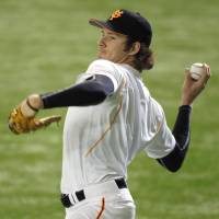 Giants starter Miles Mikolas, who led the team with 13 victories this season, could start the series opener. Tomoyuki Sugano is another likely candidate. | KYODO