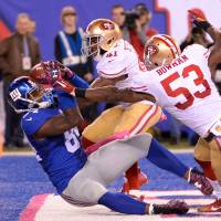 Giants beat 49ers on last-minute touchdown