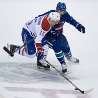 Canucks hand Canadiens first loss
