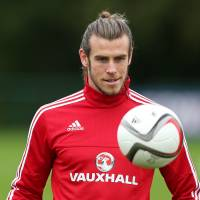 Gareth Bale, seen in training earlier this week, leads Wales in Euro 2016 qualifying. | REUTERS