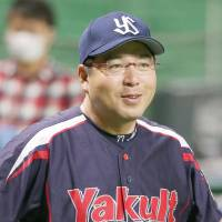 Swallows manager Mitsuru Manaka was on four Japan Series-winning teams during his playing days with Yakult. | KYODO
