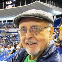 Longtime sportscaster Don Robbs, seen at Jingu Stadium in September, made his first visit to Japan in 1960. | WAYNE GRACZYK