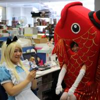 Halloween comes early for Tomy employees