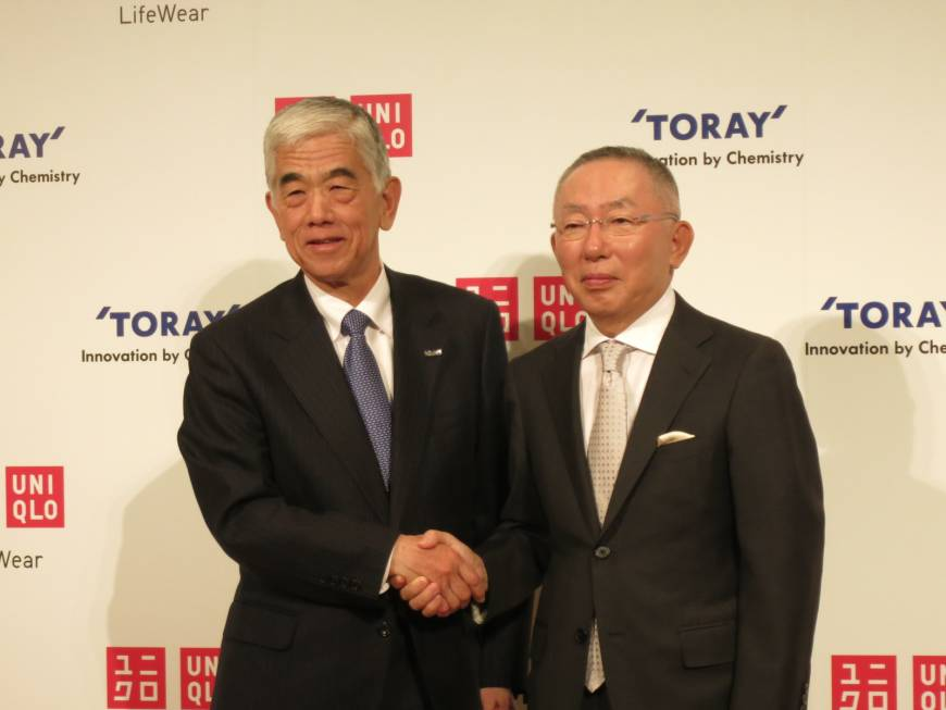 Uniqlo, Toray agree to third five-year deal, set ¥1 trillion goal