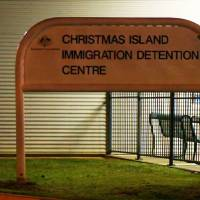 A screen grab photo from 2013 shows the entrance sign of Christmas Island immigration detention center on Christmas Island, Australia. A disturbance broke out Monday at the center, the immigration department said, amid reports rioters seized control of the facility after the death of an asylum seeker. | AUSTRALIAN DEPARTMENT OF IMMIGRATION AND CITIZENSHIP / AFP-JIJI