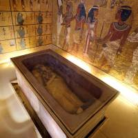 King Tutankhamun lies in a golden sarcophagus in his burial chamber in the Valley of the Kings in Luxor, Egypt. | REUTERS