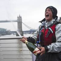 Twice rescued at sea, U.K. adventurer arrives home after rowing, cycling for four years