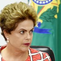 Brazilian President Dilma Rousseff has canceled her trip to Japan that was scheduled for early December.   AFP-JIJI