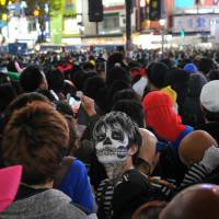 Security challenge for police growing along with popularity of Halloween in Tokyo