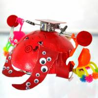 Hebocon a venue for low-tech, crude robots that personify their makers