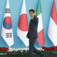 Abe meets with Cameron, EU president to reaffirm commitment to fight terrorism