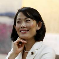 Environment Minister Tamayo Marukawa delivers an interview in Tokyo on Tuesday. | REUTERS