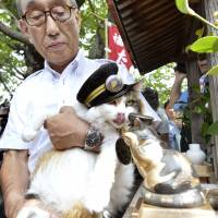 Railway in Japan with cat for a stationmaster to get continued public support