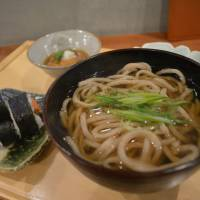 Sushi set served with udon topped and green onions. | J.J. O'DONOGHUE