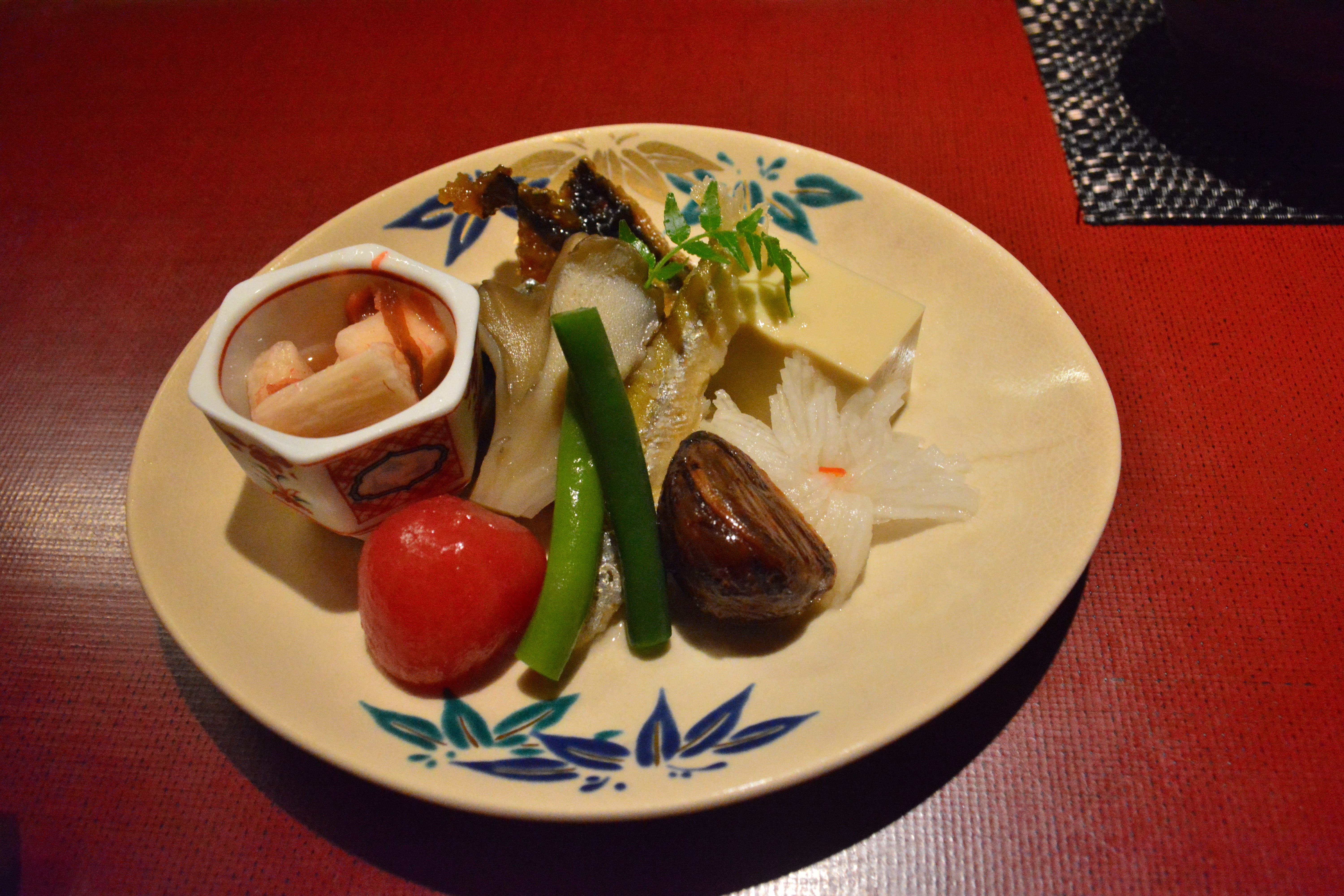 Taro served both pickled and in plum sauce, with autumn vegetables | J.J. O'DONOGHUE