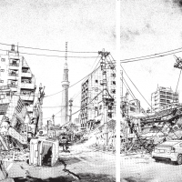 It's a mess: Spreads from the 'Tokyo Bosai' instruction manual show depictions of Tokyo following a massive earthquake. | © TOKYO METROPOLITAN GOVERNMENT