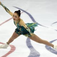 Rika Hongo, who finished sixth at last season's Grand Prix Final, struggled with her free skate at the Cup of Russia over the weekend and may not qualify for this season's event. | AFP-JIJI