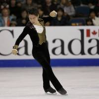 Daisuke Murakami earned his second senior Grand Prix medal with a third-place finish at Skate Canada on Saturday. REUTERS | REUTERS