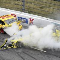 NASCAR parks Kenseth for two races after incident with Logano