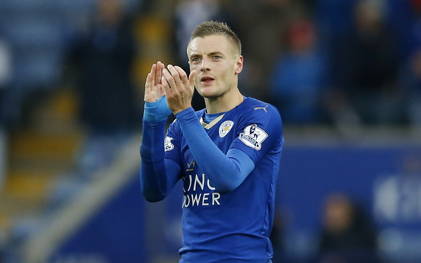 Leicester City's Jamie Vardy leads the Premier League with 11 goals this season. | REUTERS