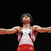 Kohei Uchimura will be bidding to become the first gymnast in more than 40 years to win back-to-back all-around Olympic titles at the Rio Games next year. | AFP-JIJI