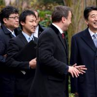 Japan, EU chair Luxembourg agree on efforts to step up free trade talks