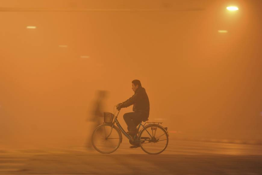 Cold front clears Beijing's smog and saves the mayor's neck — for now