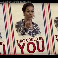 Michelle Obama raps up a storm in 'go to college' video