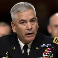 Gen. John Campbell, the top American commander in Afghanistan, testifies on Capitol Hill in Washington in October. Violence in Afghanistan is on the rise, according to a new Pentagon report to Congress that says the Taliban were emboldened by the reduced U.S. military role and are likely to try to build momentum from their 2015 attack strategy. | AP