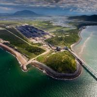 The Abbot Point Coal Terminal is seen in this 2012 file image. Environmentalists oppose turning the site, surrounded by wetlands and coral reefs, into one of the world's largest coal ports. | TOM JEFFERSON / GREEENPEACE