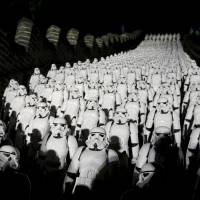 Five hundred replicas of 'Star Wars' stormtroopers stand on the steps of the Great Wall of China's Juyongguan section during a promotional event for 'Star Wars: The Force Awakens' outside Beijing on Oct. 20. | REUTERS