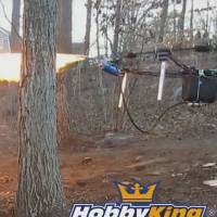 Teen tests fire-spitting, turkey-roasting drone