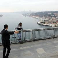 Turkish president stops man from jumping off bridge