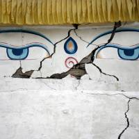 This Buddhist shrine in the Nepalese village of Khumjung was damaged in an earthquake last spring. | REUTERS
