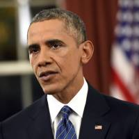 Obama aims to allay U.S. terror attack fears by bid to 'move forward on all fronts' against Islamic State