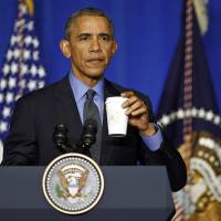 Obama urges legally binding aspects of climate deal but GOP ranks look to foil emissions goals