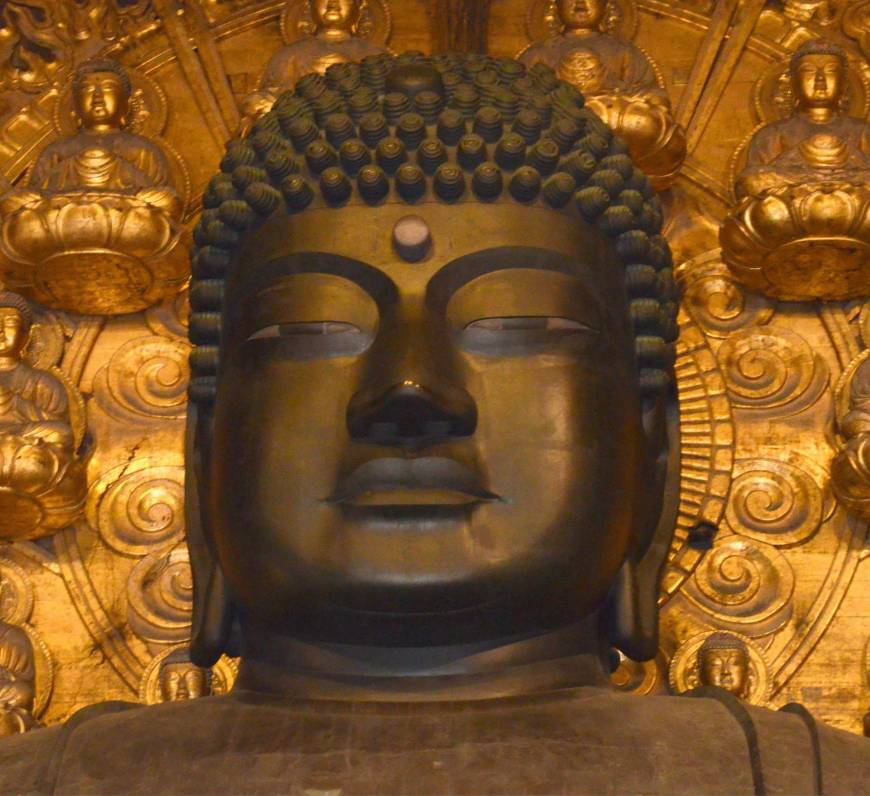 Great Buddha of Nara has only half its reported number of hair curls