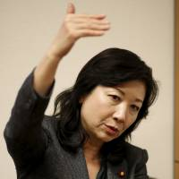 Former Cabinet minister Seiko Noda is interviewed at her office in Tokyo on Monday. | REUTERS