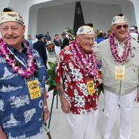 Aging survivors return to mark 74th year since Pearl Harbor attack