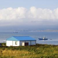 The coast of Kunashir is seen in this undated photo. Russia says it is building modern military settlements on the island and another claimed by Japan. | ISTOCK