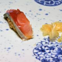 Pacific sea bream served on red vinegar-flavored rice | J.J. O'DONOGHUE