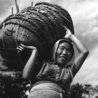 As with most all of Derrick Woollacott's 'Japan Series' images, this photo lacks a title, a specific location or an exact date, but it is assumed to be have been taken between March and December 1946 in the Seto Inland Sea area. | DERRICK WOOLLACOTT