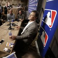 Miami Marlins manager Don Mattingly speaks to the media on Wednesday in Nashville, Tennessee. | AP