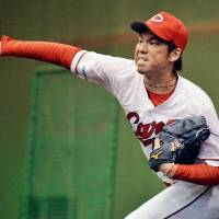 Pitcher Kenta Maeda is generating interest among Major League Baseball teams having been posted by the Hiroshima Carp. | KYODO