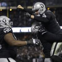 Raiders beat Chargers in OT