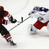 Blue Jackets outgun Coyotes in wild clash