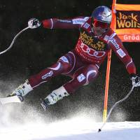 Svindal wins downhill after Mayer scare