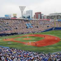 The Yokohama BayStars played to a full house at Yokohama Stadium on May 23 while at the time in Central League pennant contention. | WAYNE GRACZYK