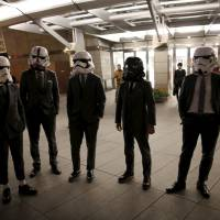 Moviegoers in Roppongi, Tokyo, await the world premiere of 'Star Wars: The Force Awakens' on Friday.  | REUTERS