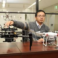 Allen Wu, the Japan chief of China-based drone-maker DJI, is interviewed at his office in Tokyo on Dec. 18. | YOSHIAKI MIURA